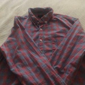 J. Crew plaid button down shirt